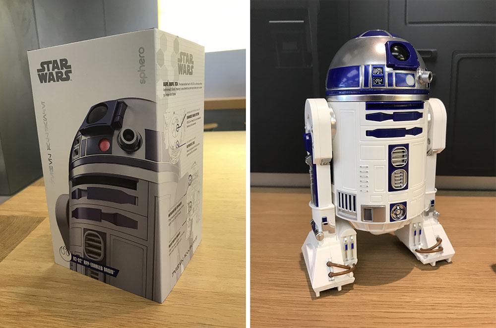R2D2 verpakking en droid