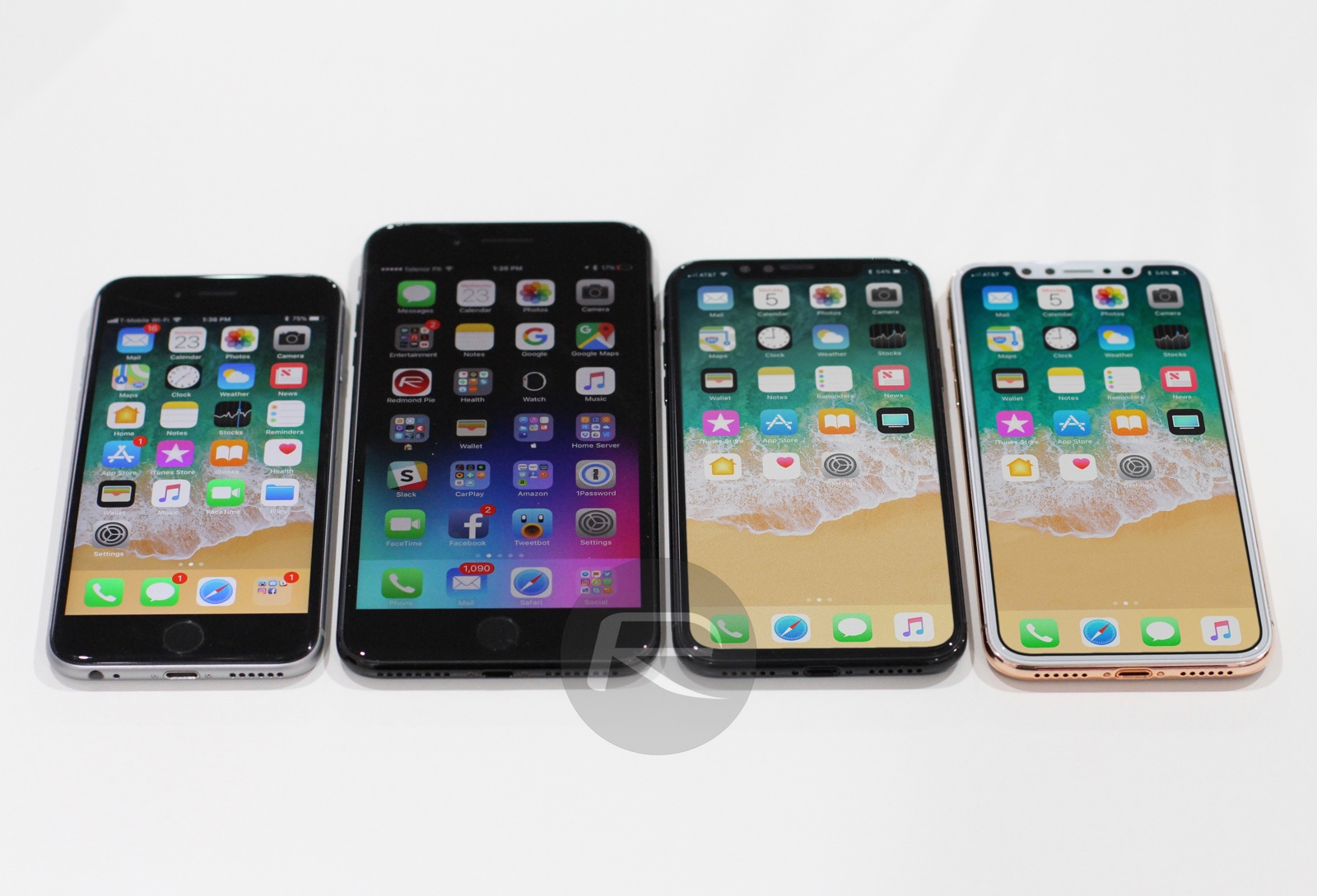 iPhone X/8 vergeleken met andere iPhones.