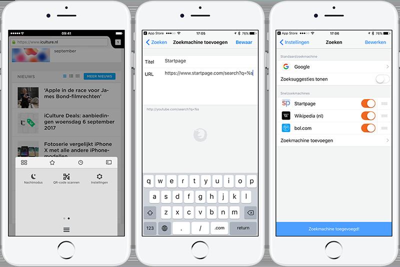 Startpage instellen iOS