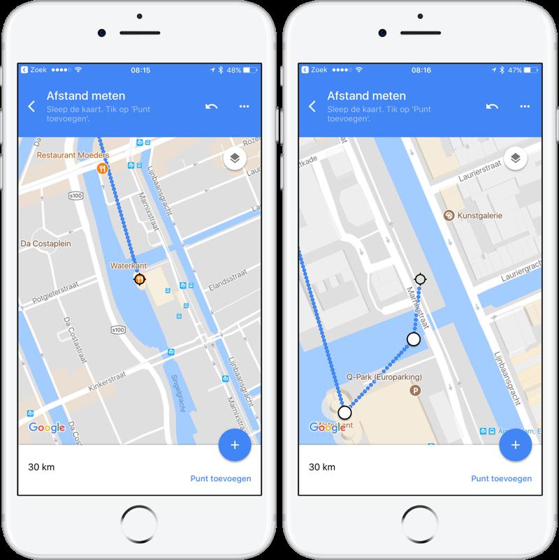 Google Maps hemelsbreed