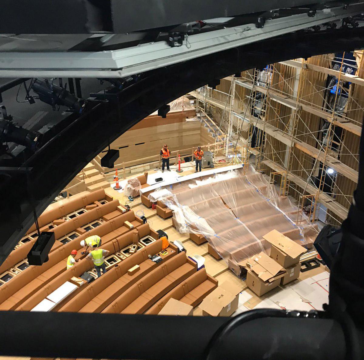 Steve Jobs Theater-stoelen zijn van leer.