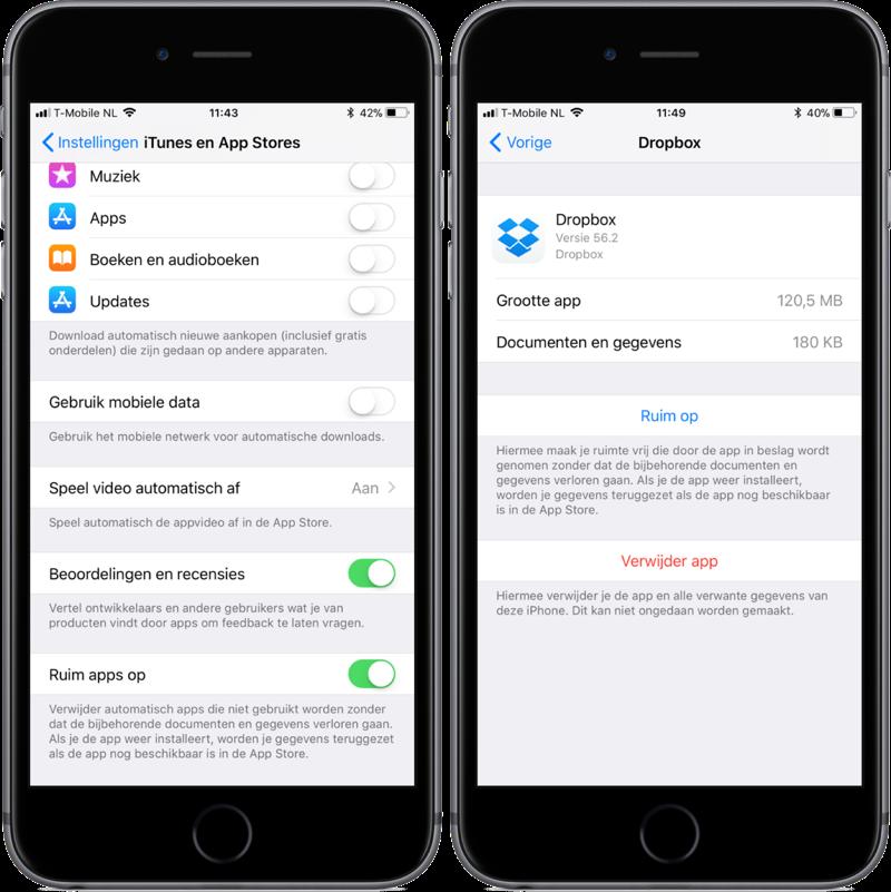 Apps automatisch verwijderen en opruimen.