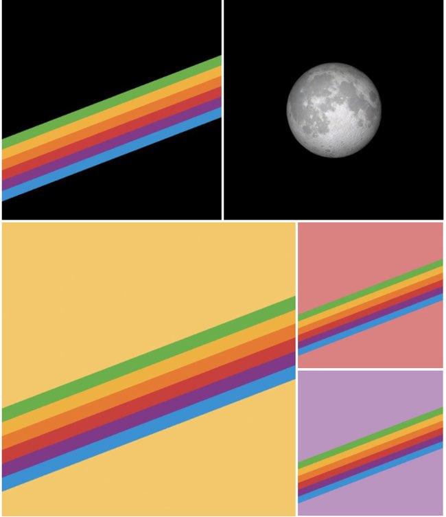iOS 11 wallpapers regenboog en maan