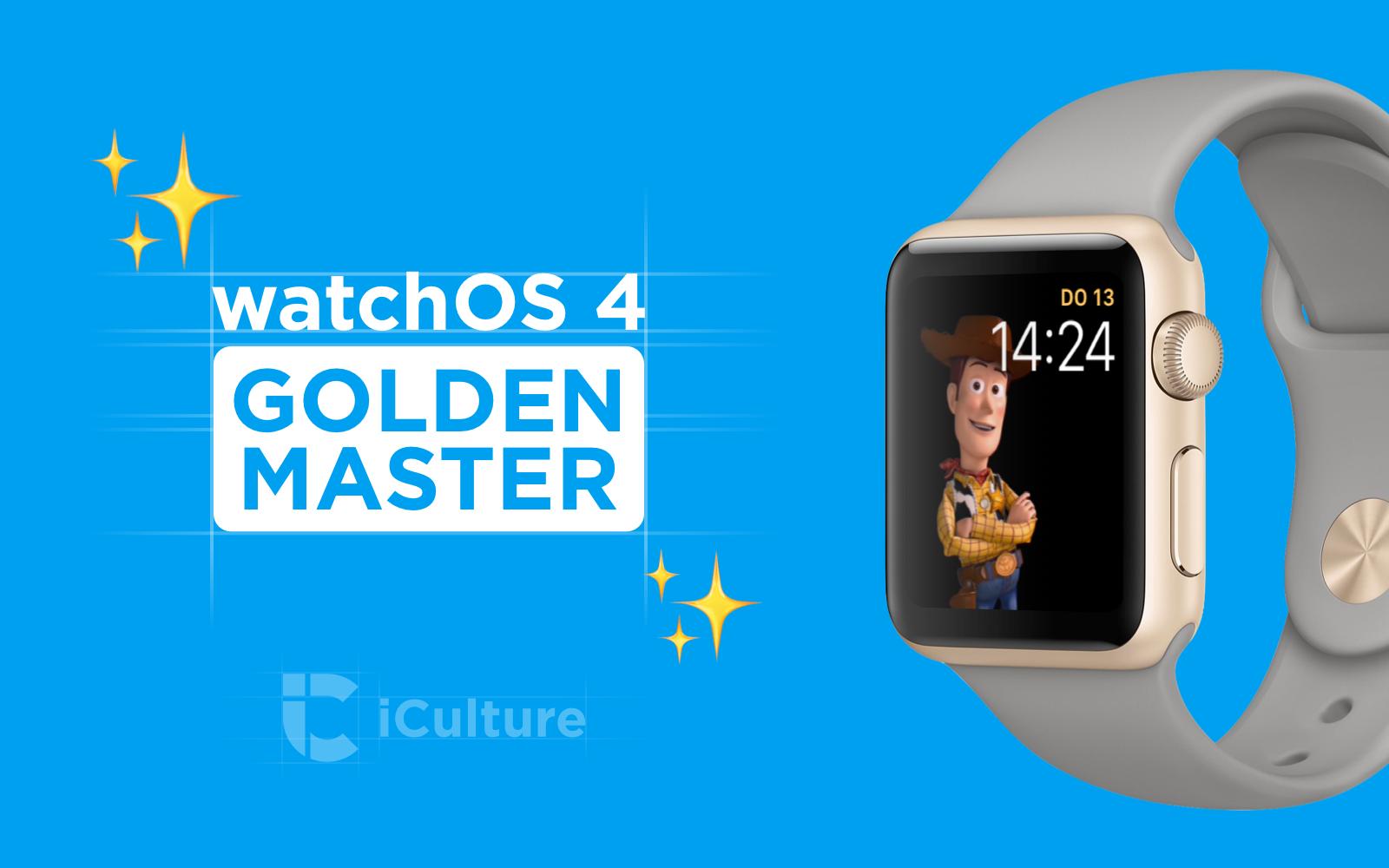 watchOS 4 Golden Master.
