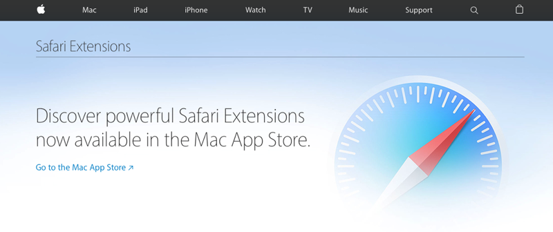 Safari Extensies in Mac App Store