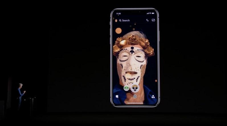 iPhone X snapchat