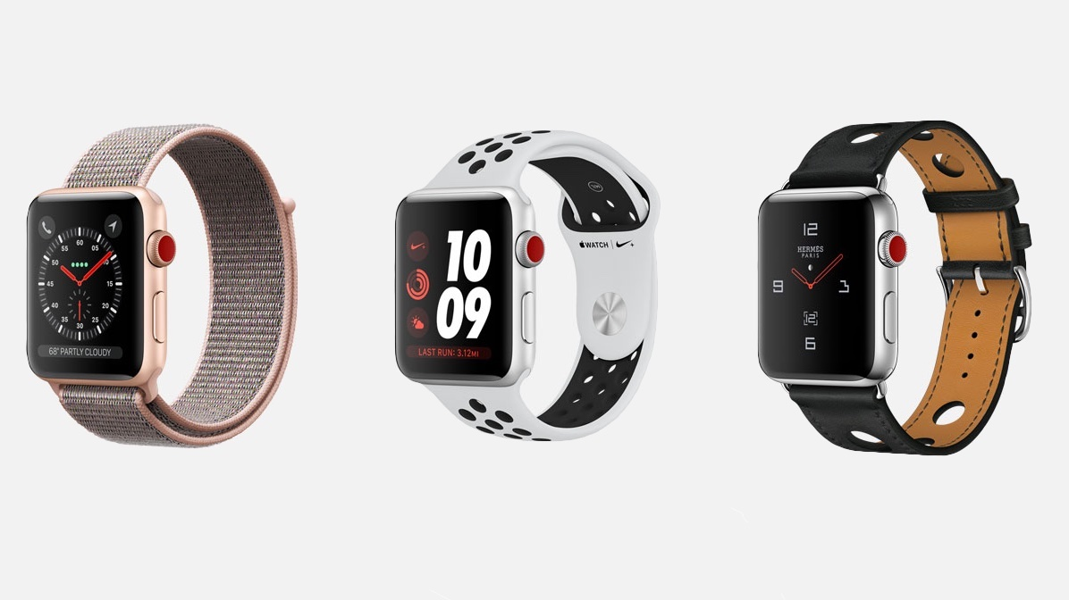 Apple Watch Series 3 lineup najaar 2017