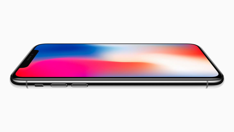 iPhone X vanaf de zijkant