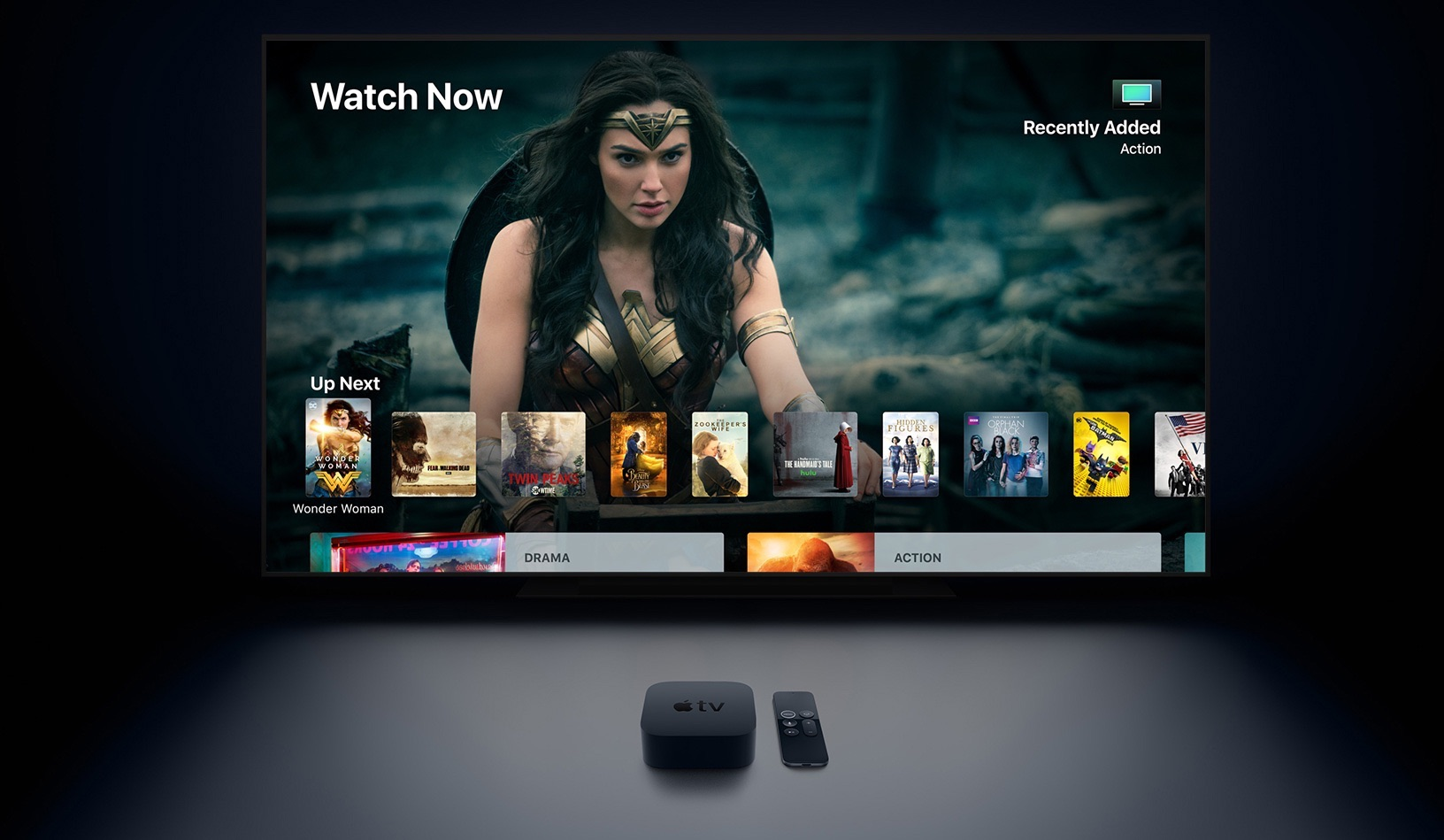 Apple TV 4K met TV-app.