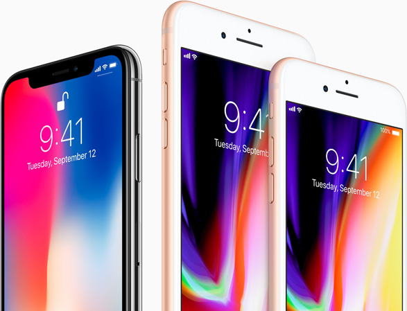 iPhone 8 en iPhone X
