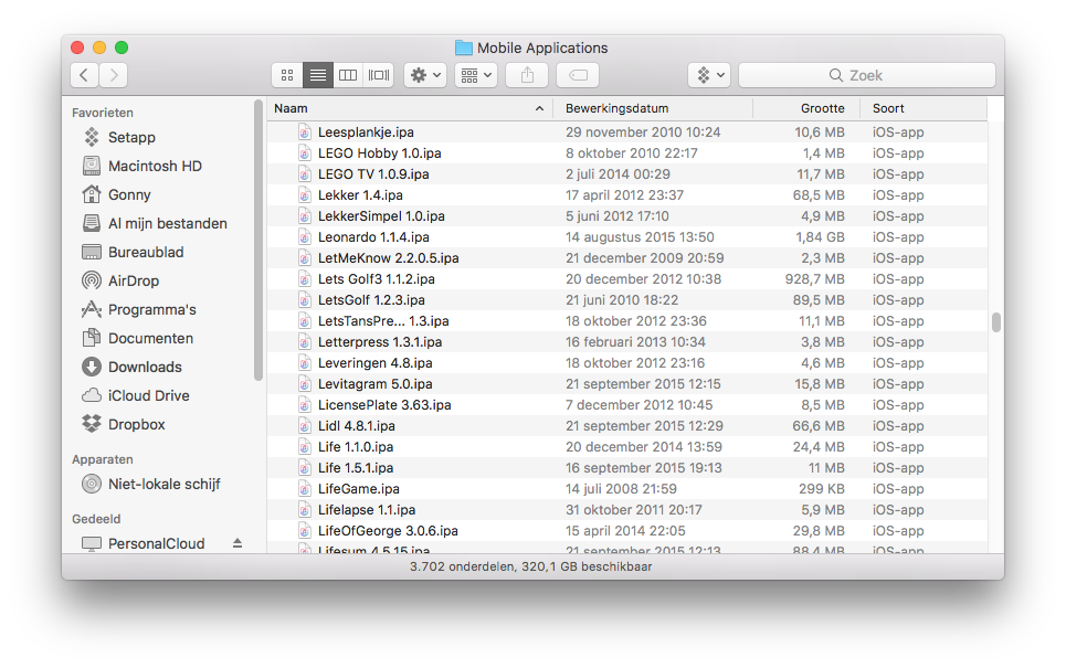 IPA bestanden in iTunes