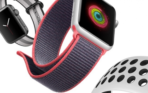 Apple Watch Series 3 met sport loop en Nike.