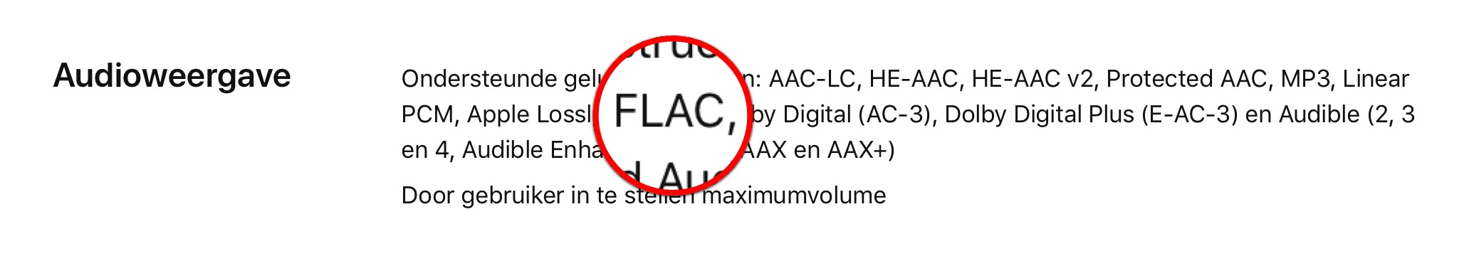 FLAC ondersteuning iPhone en Apple TVFLAC ondersteuning iPhone en Apple TV