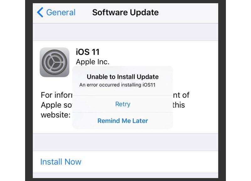 iOS 11 installatieprobleem