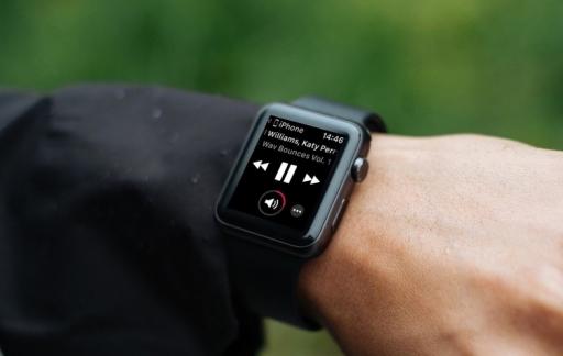 Muziek op je iPhone bedienen met de Apple Watch.