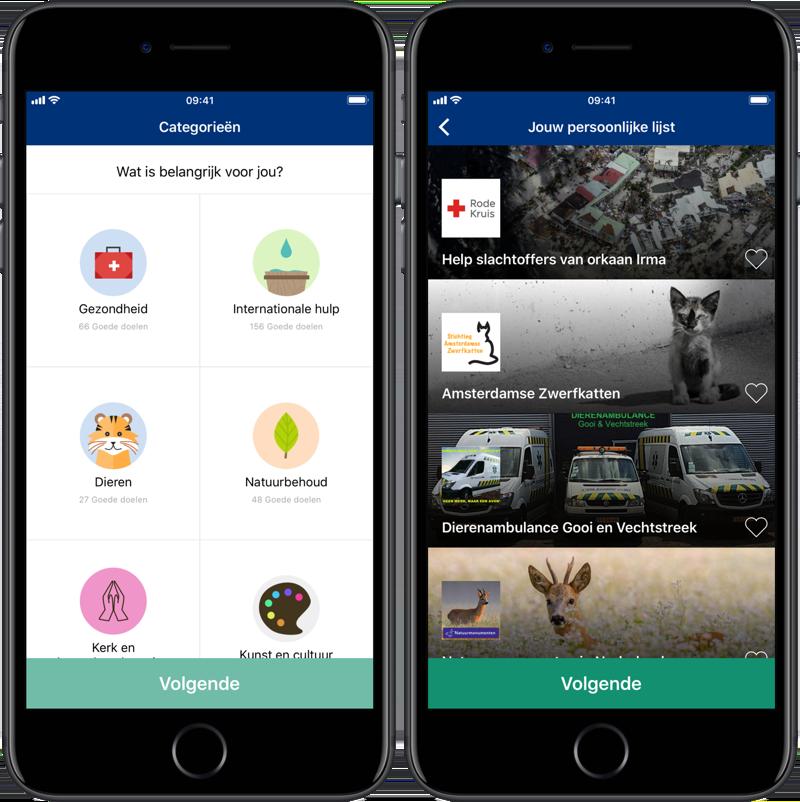 Qarma app: doelen kiezen