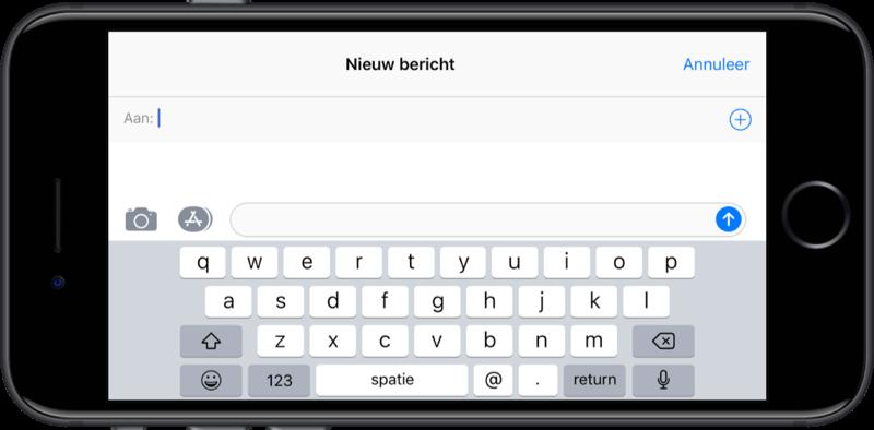 Toetsenbord in iOS 11 is iets kleiner geworden.