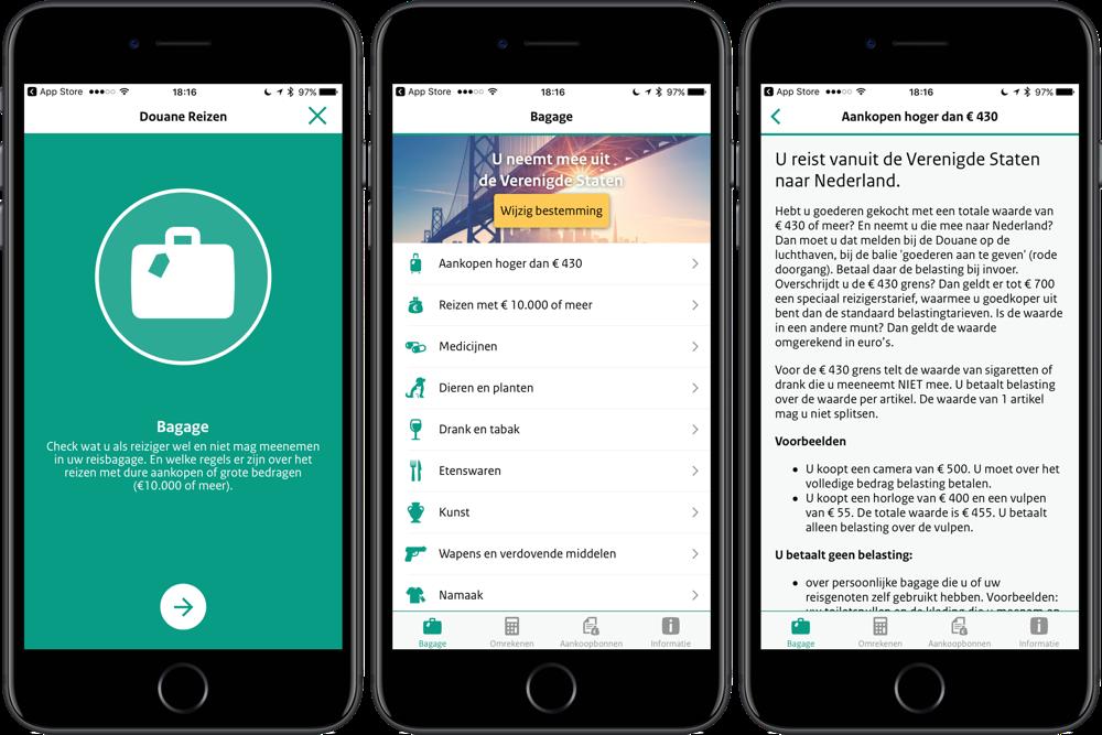 iPhone in buitenland kopen met Douane Reizen-app op iPhone