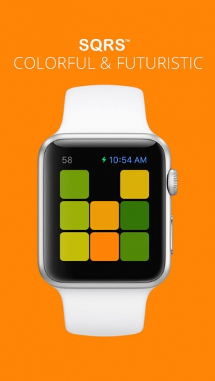 Sqrs op Apple Watch.