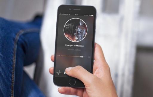 Impuls Music op een iPhone.
