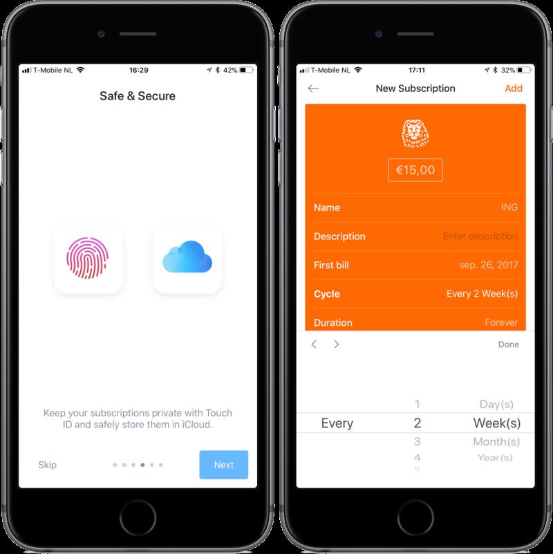 Bobby met iCloud en Touch ID en flexibele betalingen.