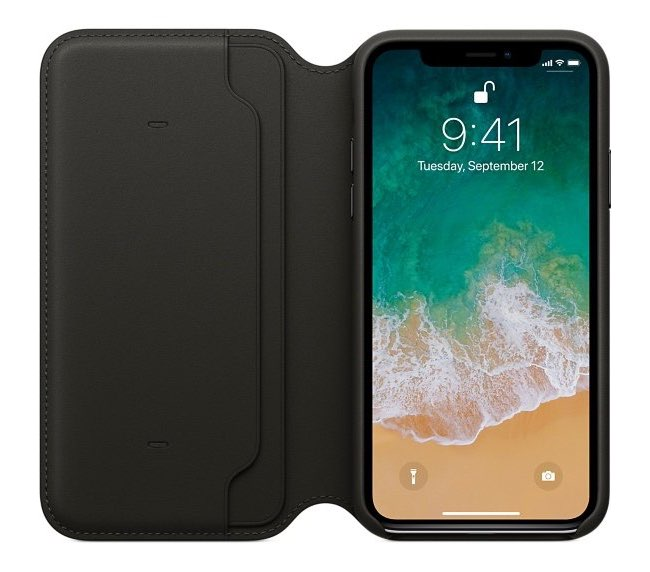iPhone X Leren Folio case