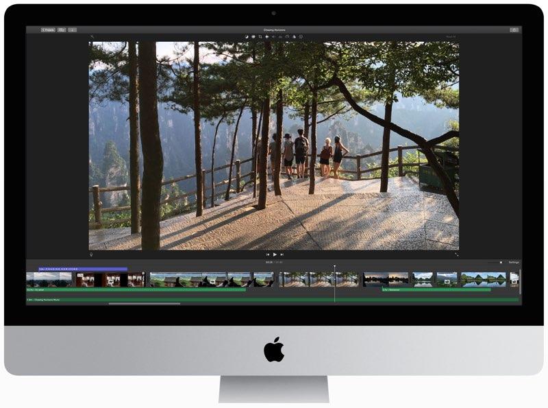 iMovie 4K iMac