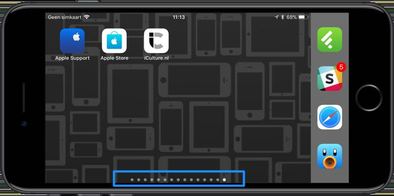 Beginschermen iPhone