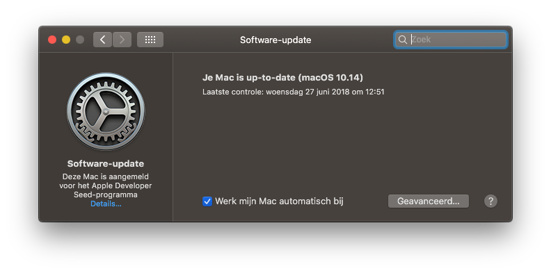 macOS Software-update.