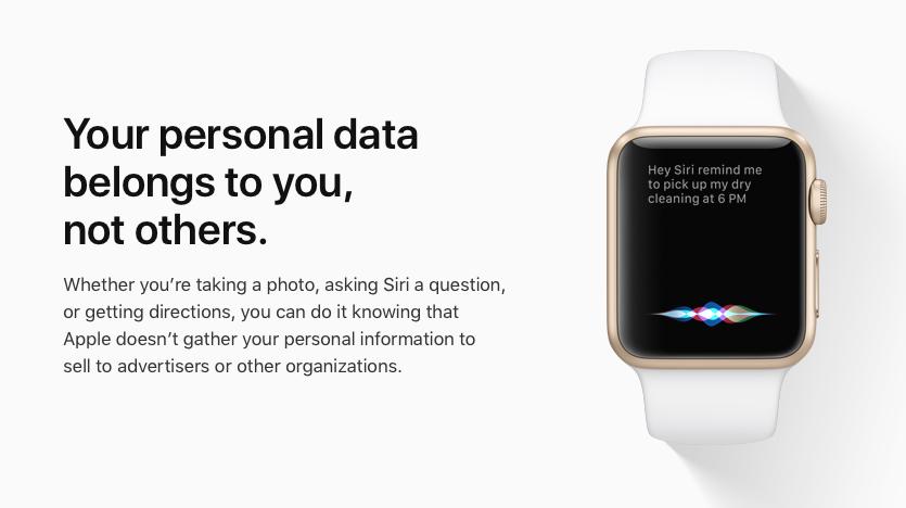 Persoonlijke data Apple