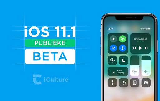 iOS 11.1 publieke beta.