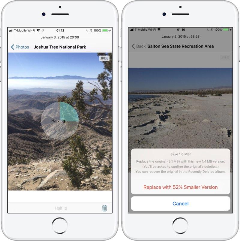 Half-app iPhone