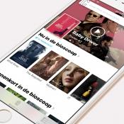 Startpagina van Cinemapp op de iPhone.