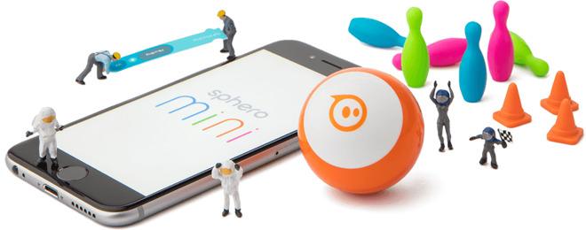 Sphero Mini robotbal met speeltjes