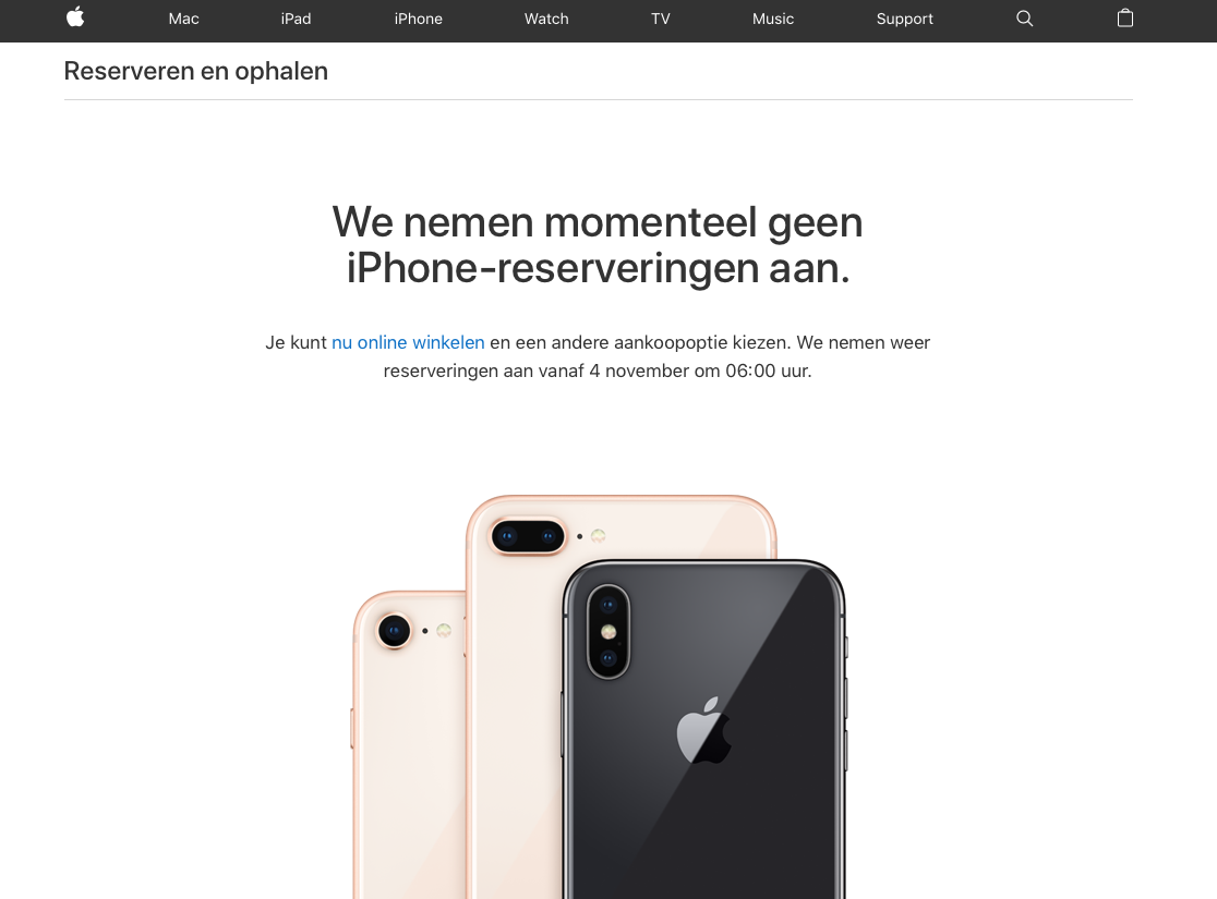 België reserveren iPhone X
