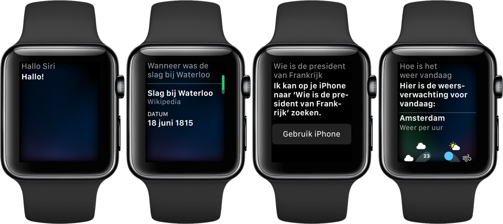 Siri spreekt op Apple Watch 3