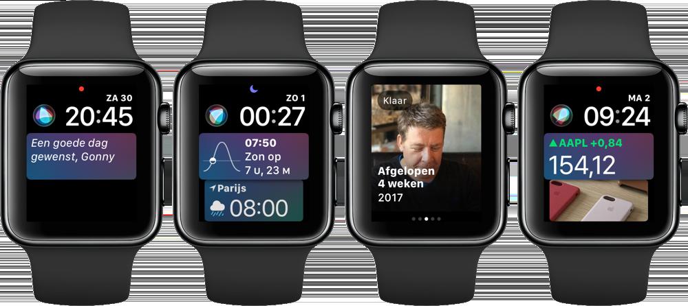 Siri-wijzerplaat voor Series 3
