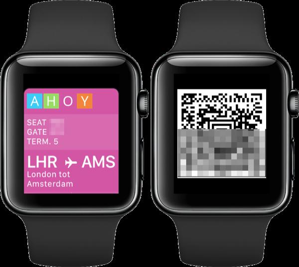 Wallet-kaart op Apple Watch van instapkaart via GetPassbook.