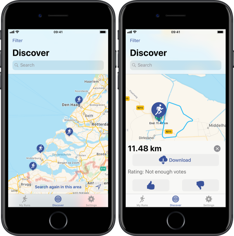 Discover in Runners Map.