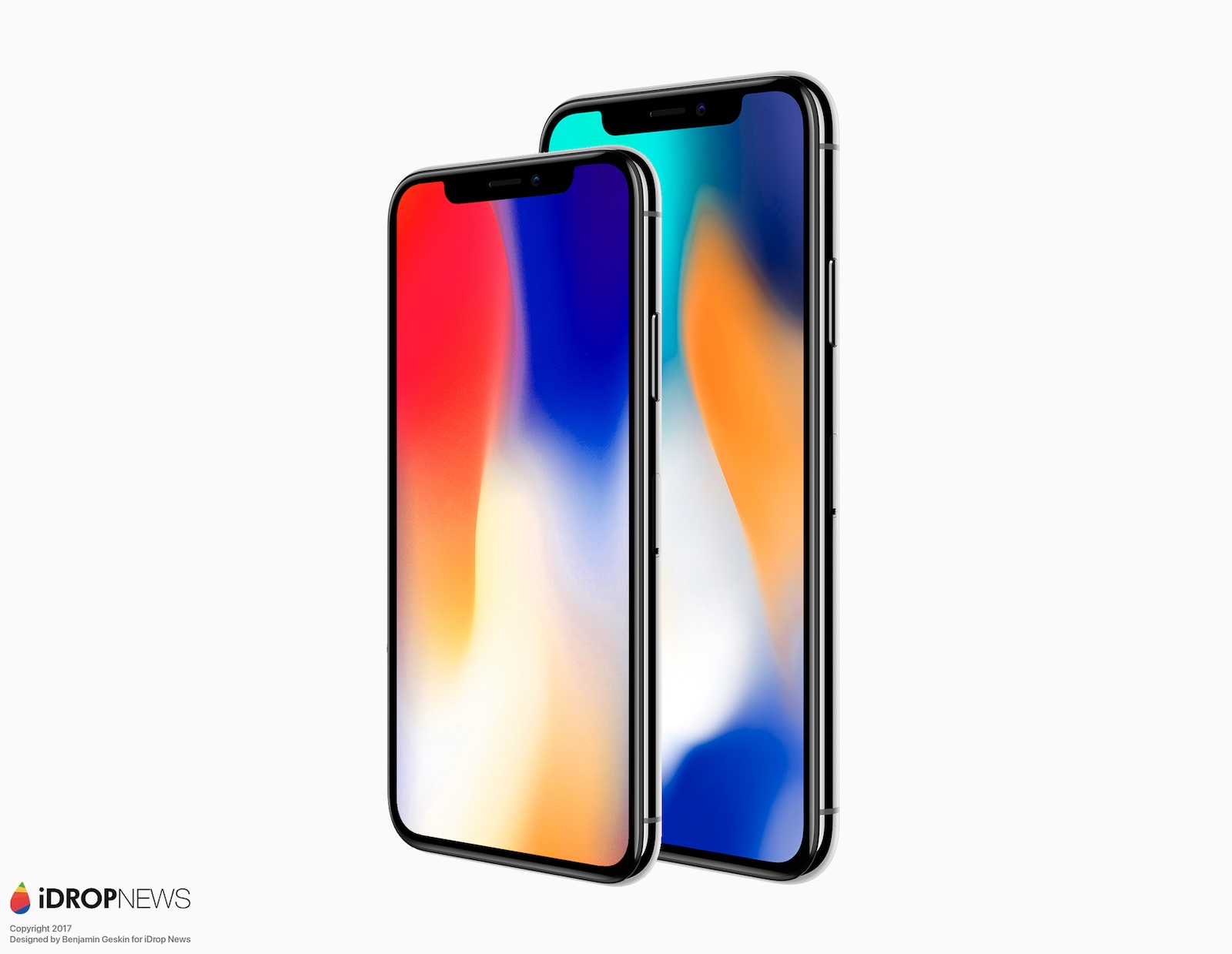 iPhone X Plus render staand.