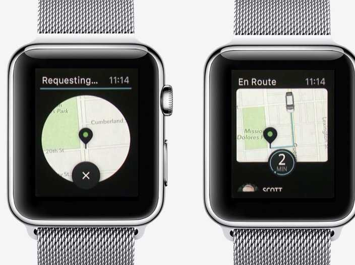 Uber op Apple Watch