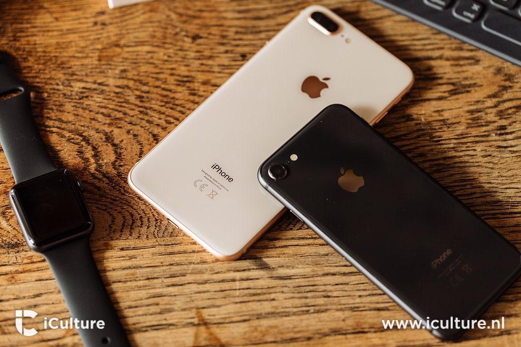 iPhone 8 review: liggend op bureau