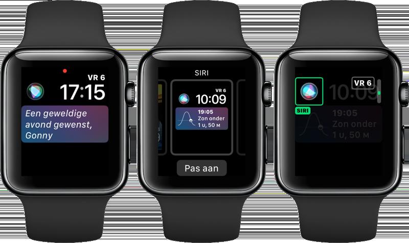 Apple Watch: Siri-wijzerplaat aanpassen