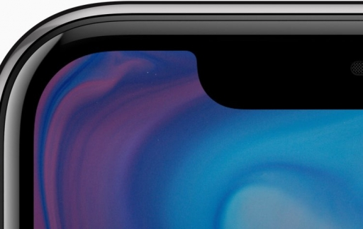 iPhone X bovenkant scherm