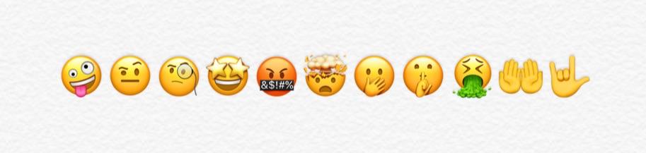 Smiley emoji's in iOS 11.1.