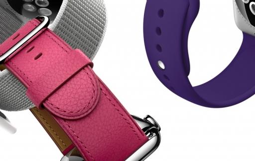 Apple Watch-bandjes van verschillende soorten.