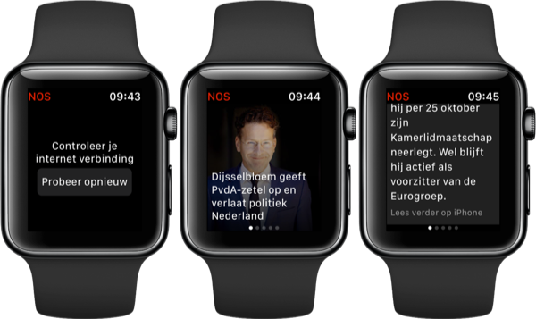 NOS op Apple Watch vernieuwd.