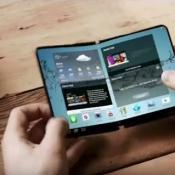 Samsung prototype met opvouwbaar scherm
