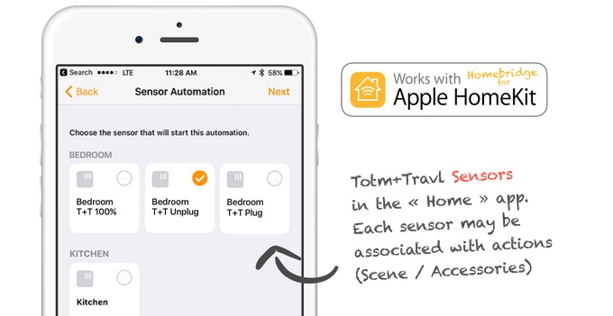 Totm+Travl voor Apple Watch met HomeKit.
