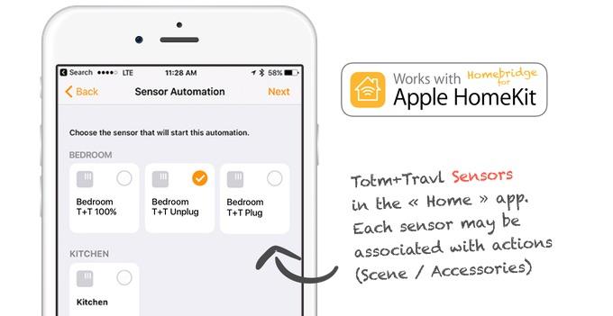 Totm+Travl voor Apple Watch met HomeKit.